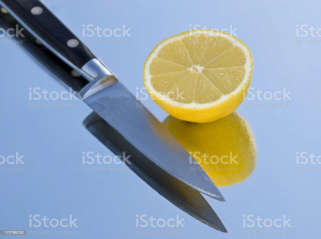 Knife & Lemon royalty-free stock photo