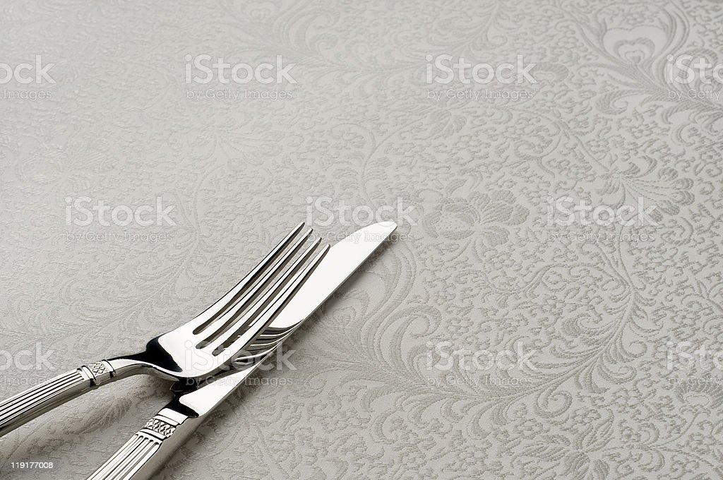 cuchillo y tenedor foto de stock libre de derechos