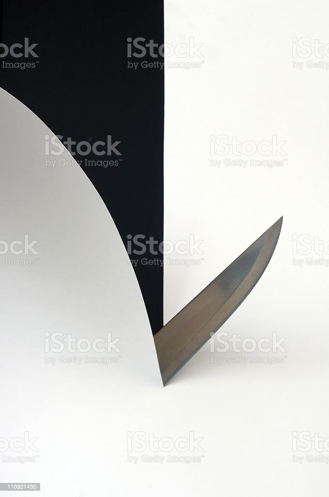 Knife and paper royalty-free stock photo