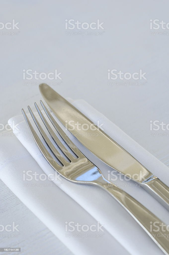 Knife & Fork Table setting royalty-free stock photo