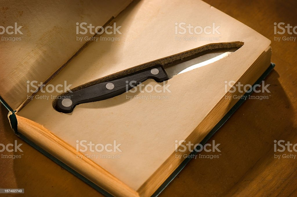 knife in school royalty-free stock photo