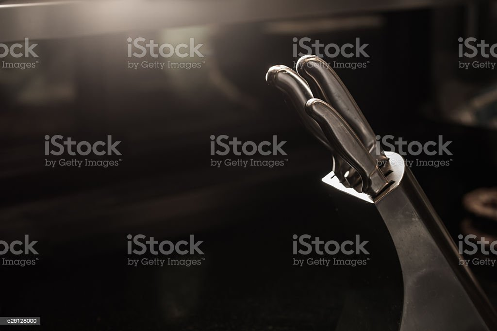 Knife lowlight stock photo