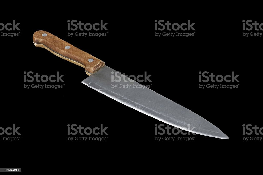 Knife on black background royalty-free stock photo