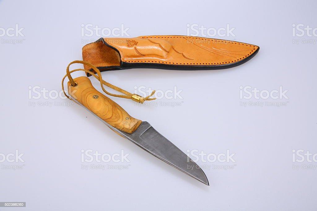 knife on white background stock photo