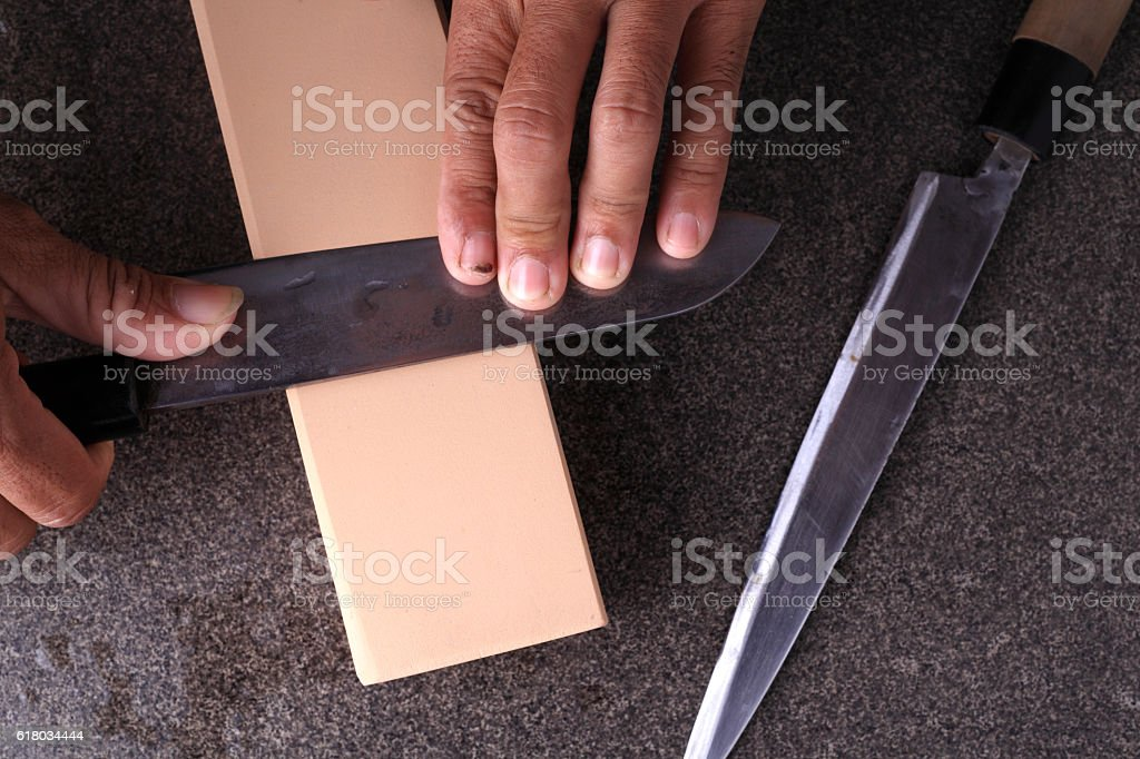 Knife sharpener stock photo