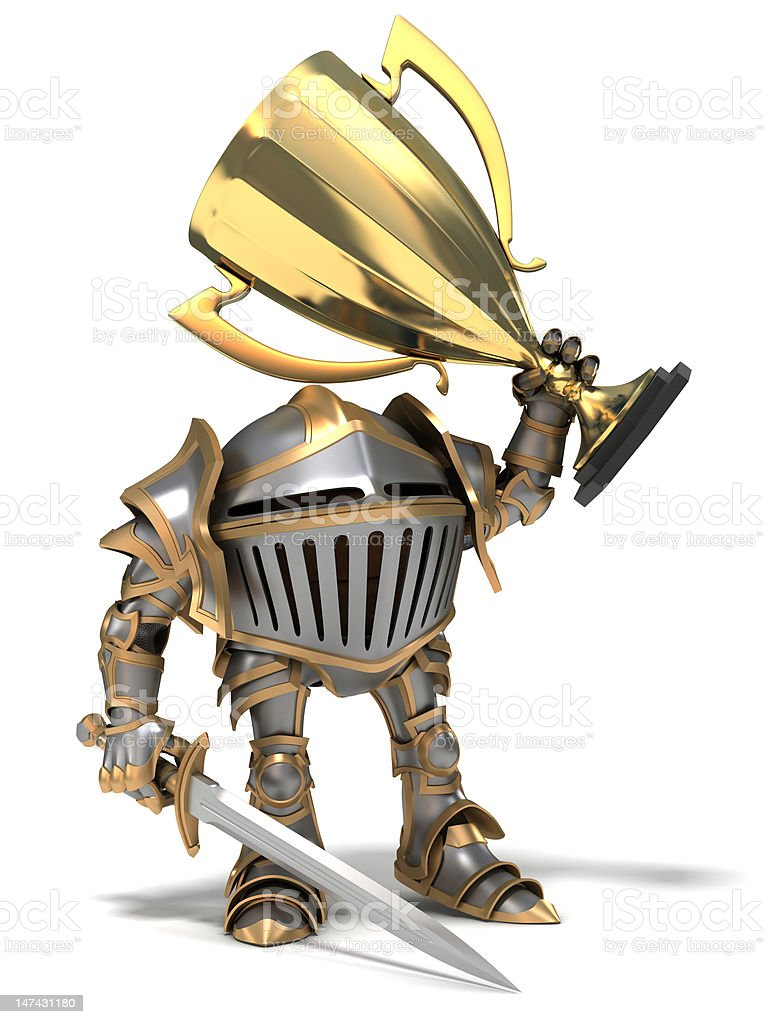 Knigh with a cup royalty-free stock photo