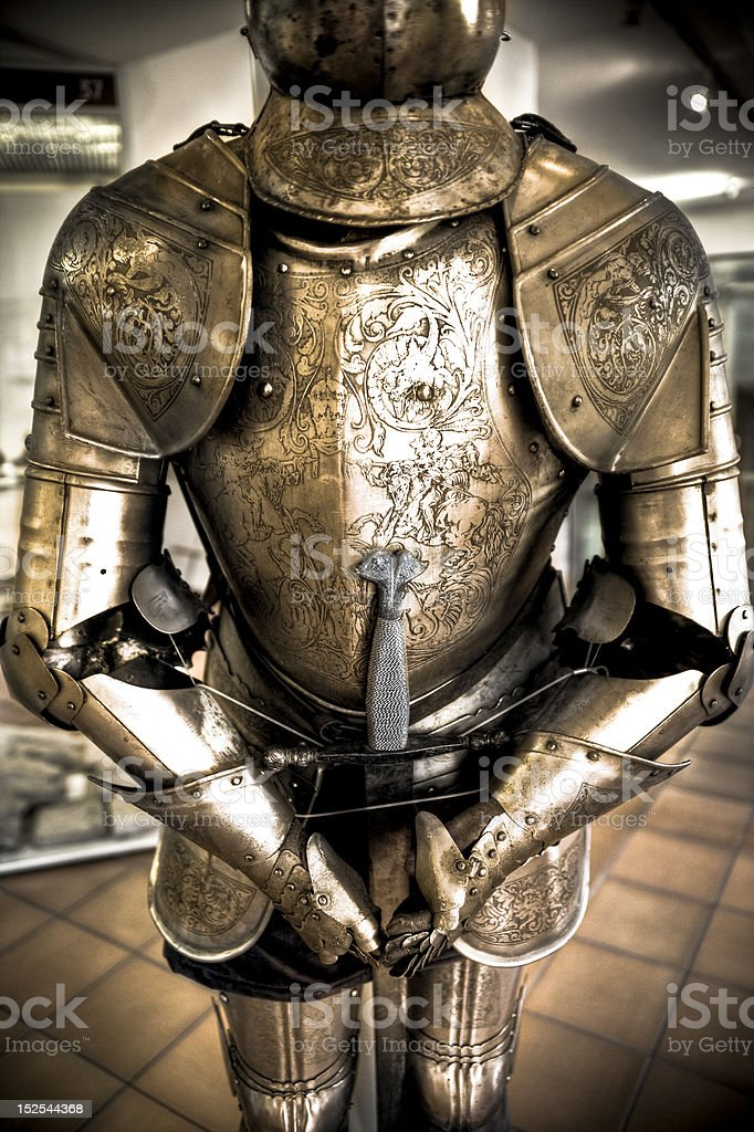Knight armor stock photo
