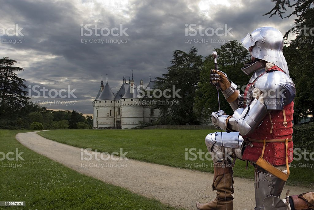 Knight by Chateau Chaumont stock photo