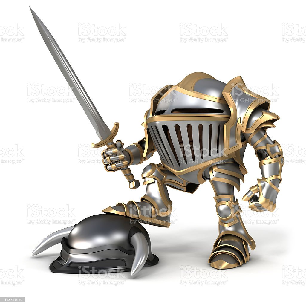 Knight conqueror stock photo