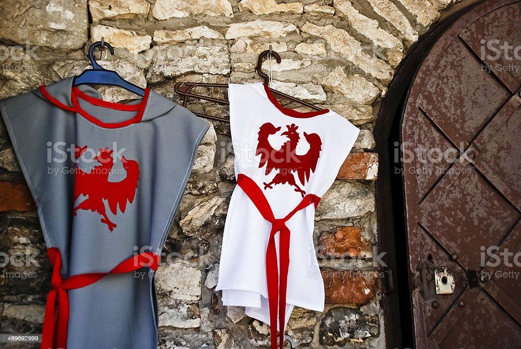 knight costume stock photo