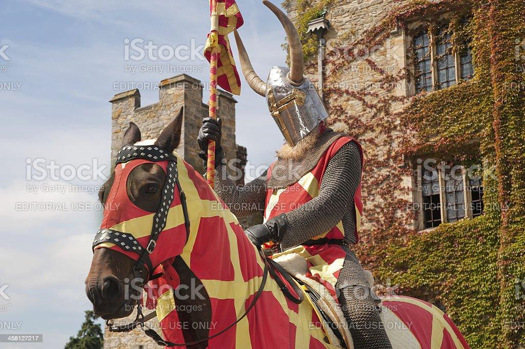 Knight in armor stock photo