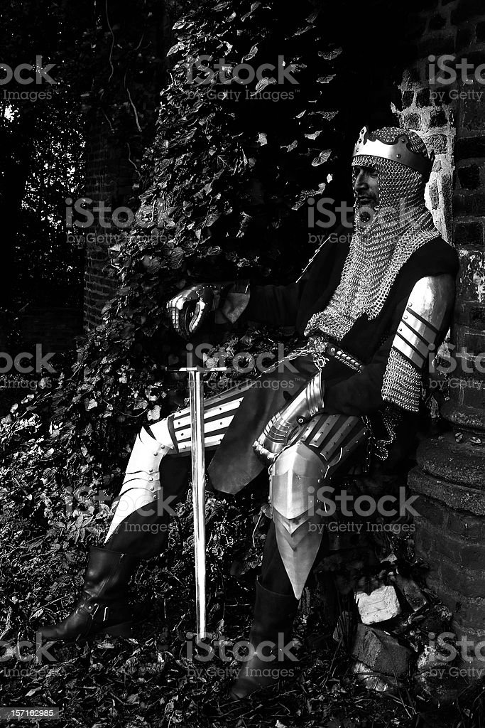 Knight in Body Armour royalty-free stock photo
