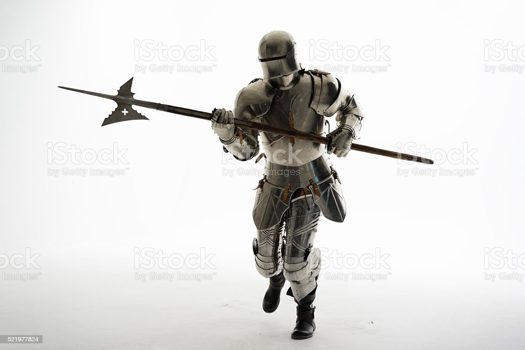 Knight in Full Armor stock photo