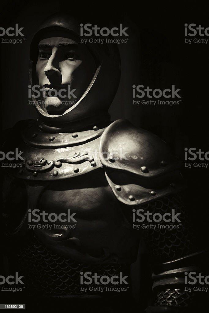 Knight in Night stock photo