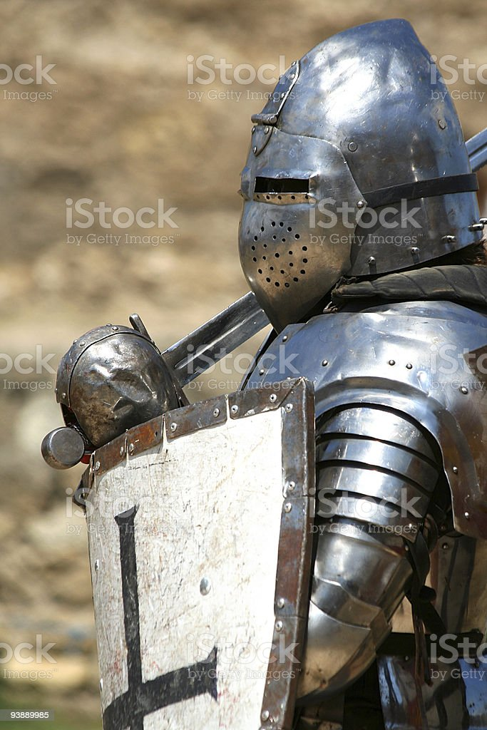 knight in shining armor / historical festival royalty-free stock photo