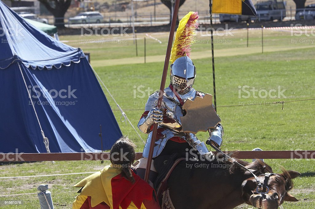 Knight In Shining Armour stock photo