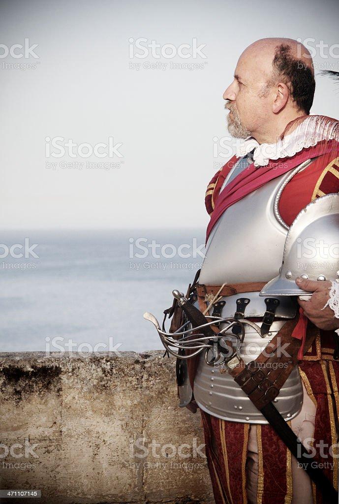 Knight of St. John in Valetta stock photo