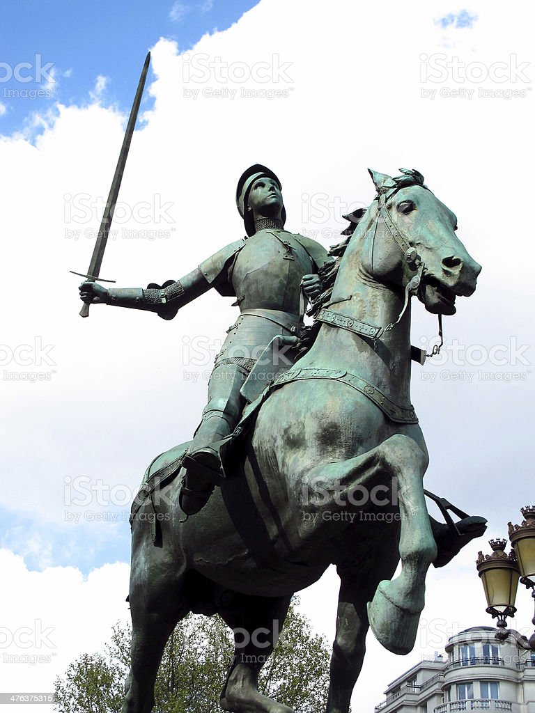 knight on horse statue royalty-free stock photo