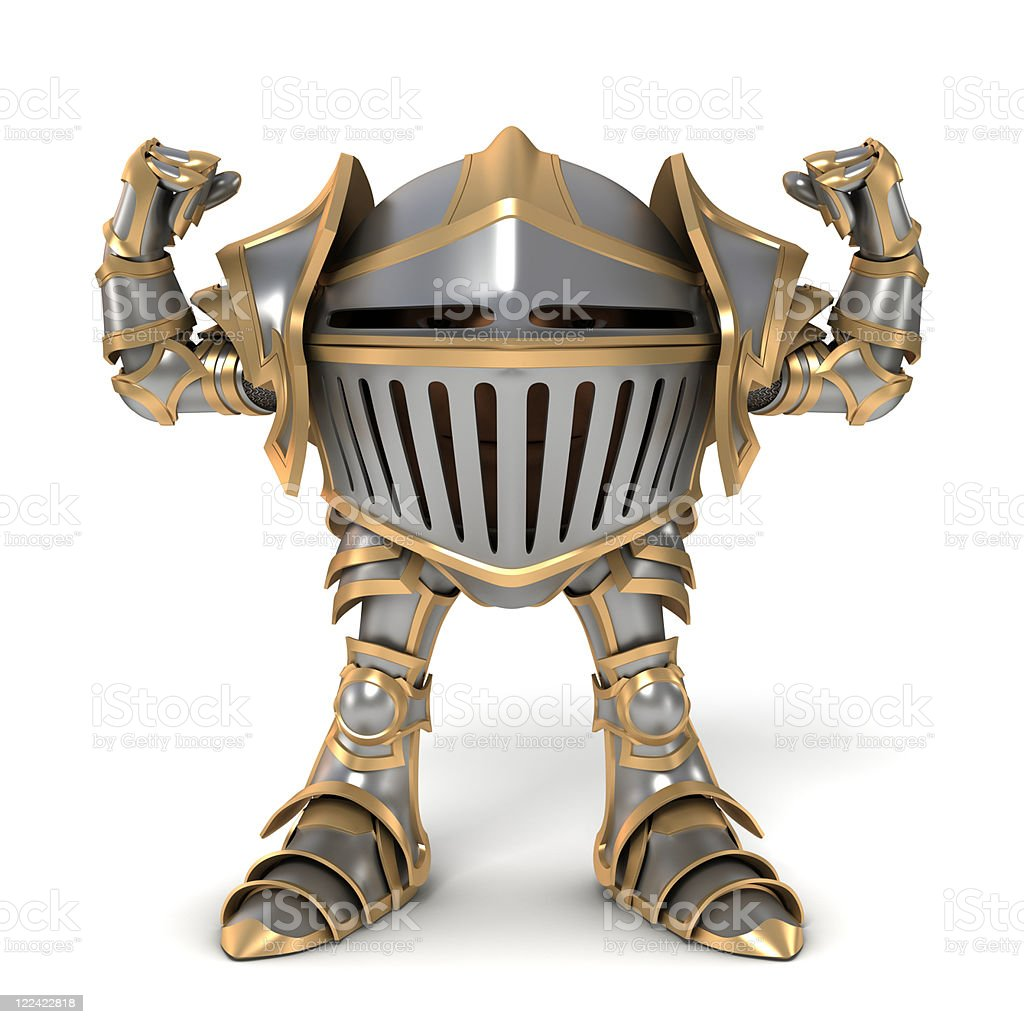 Knight Strongman stock photo