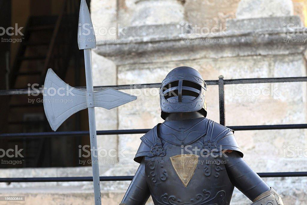 Knight with ax stock photo