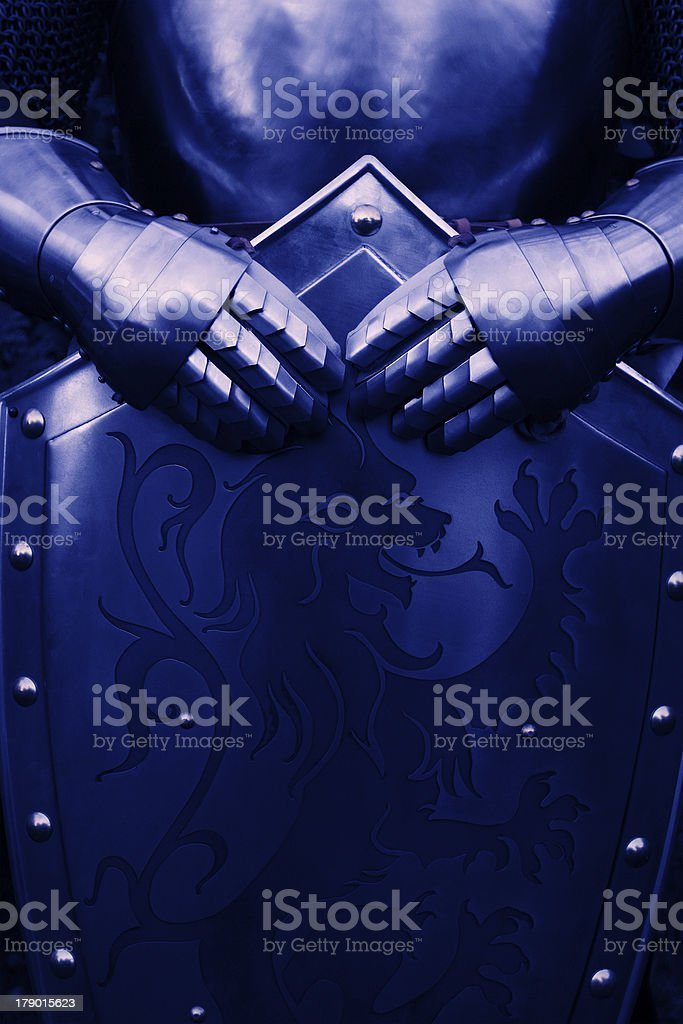Knight - with blue color royalty-free stock photo