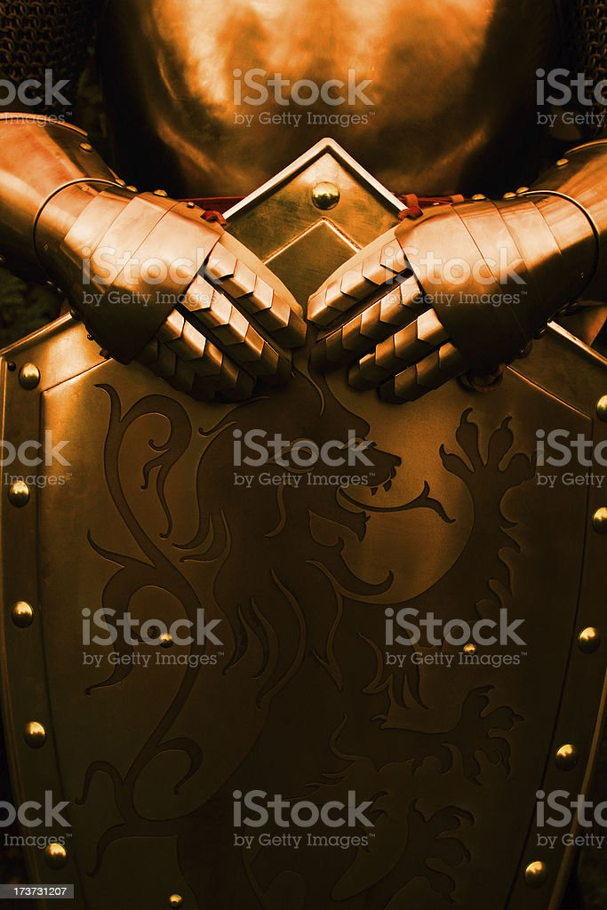 Knight - with brown color stock photo