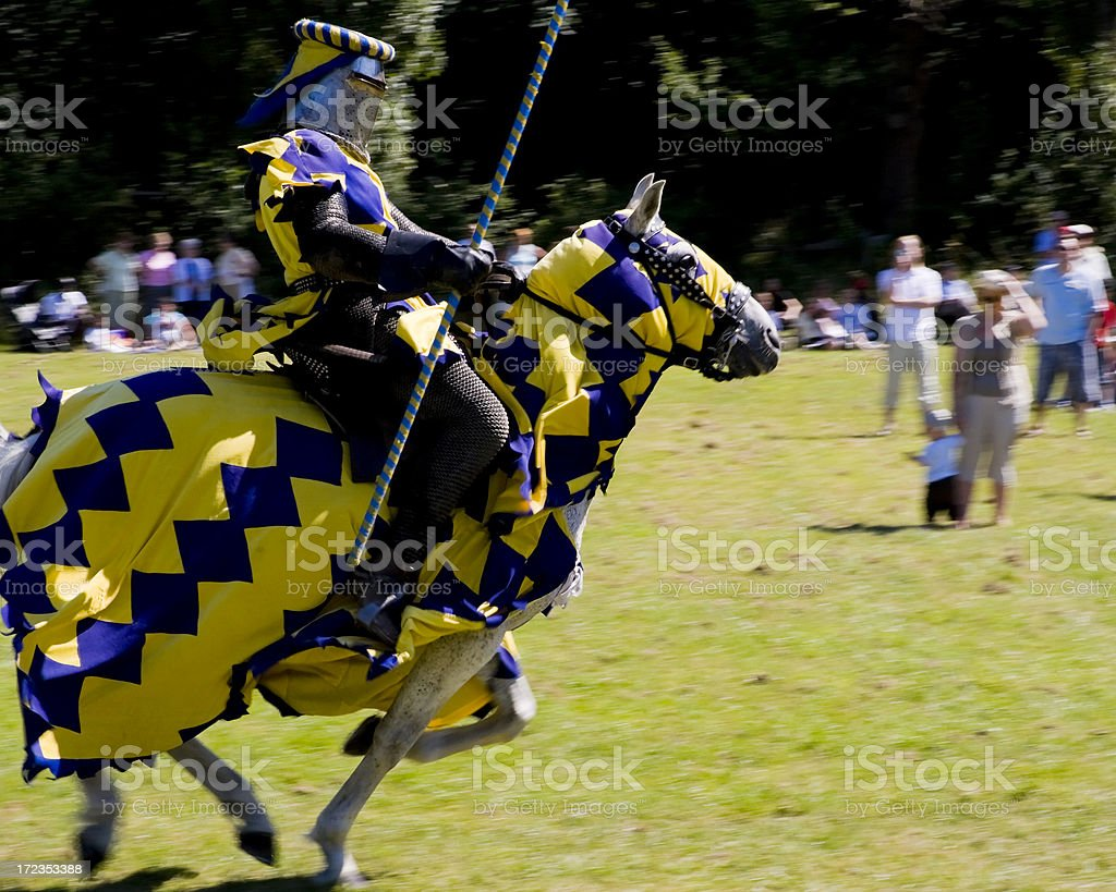 Knightly charge stock photo