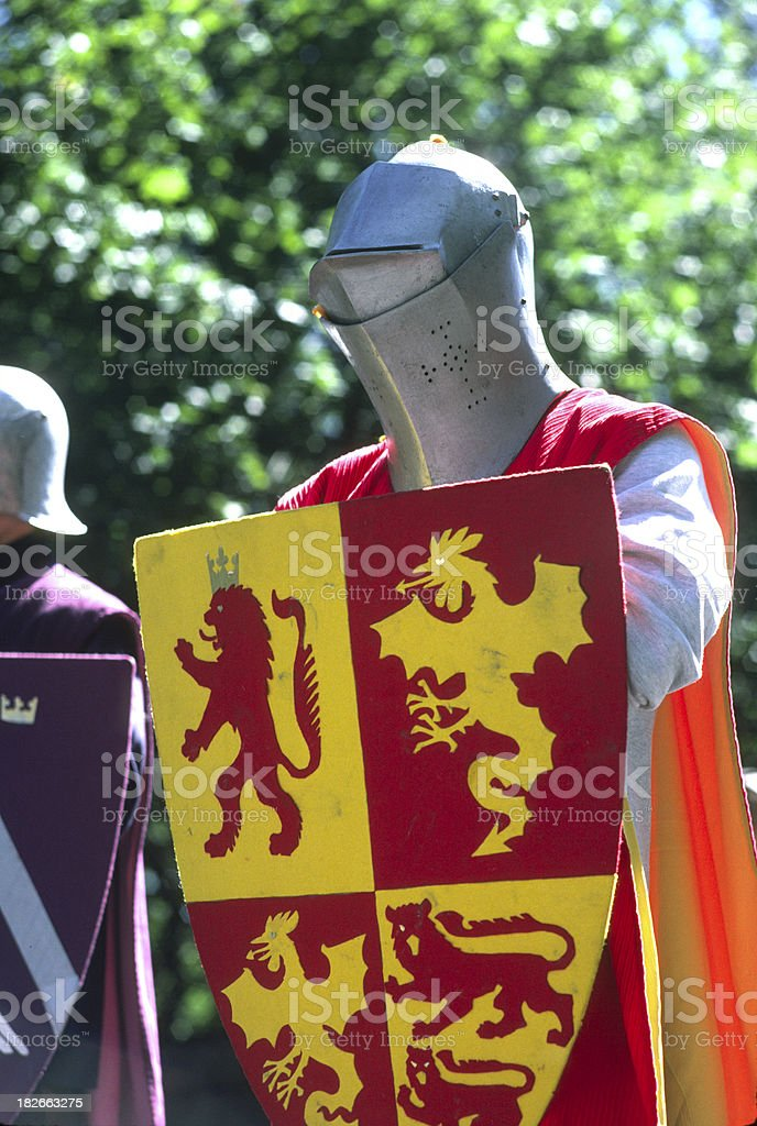 Knightly figure stock photo