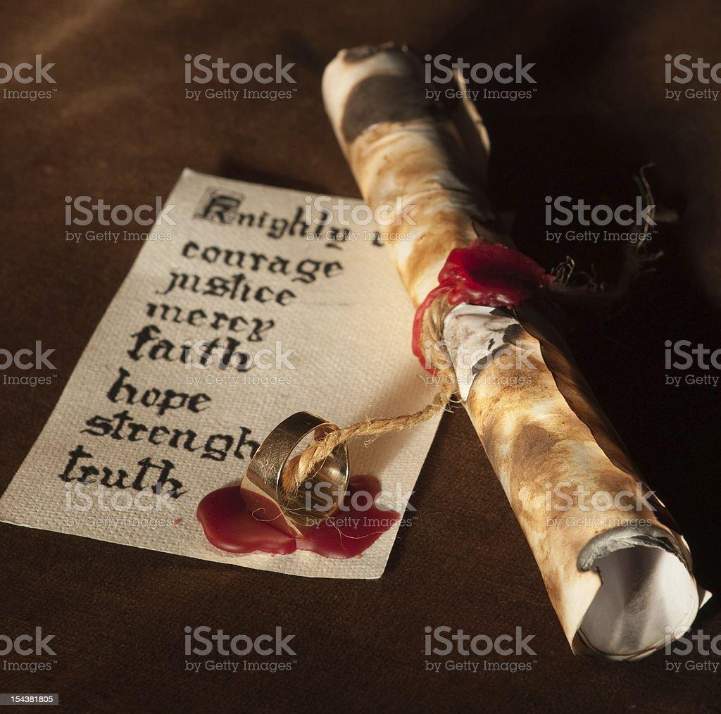 Knightly virtues stock photo