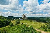 Mirow, Poland - July 20, 2016: Knight's castle near Czestochowa.