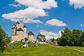 Bobolice, Poland - July 20, 2016: Knight's castle near Czestochowa.