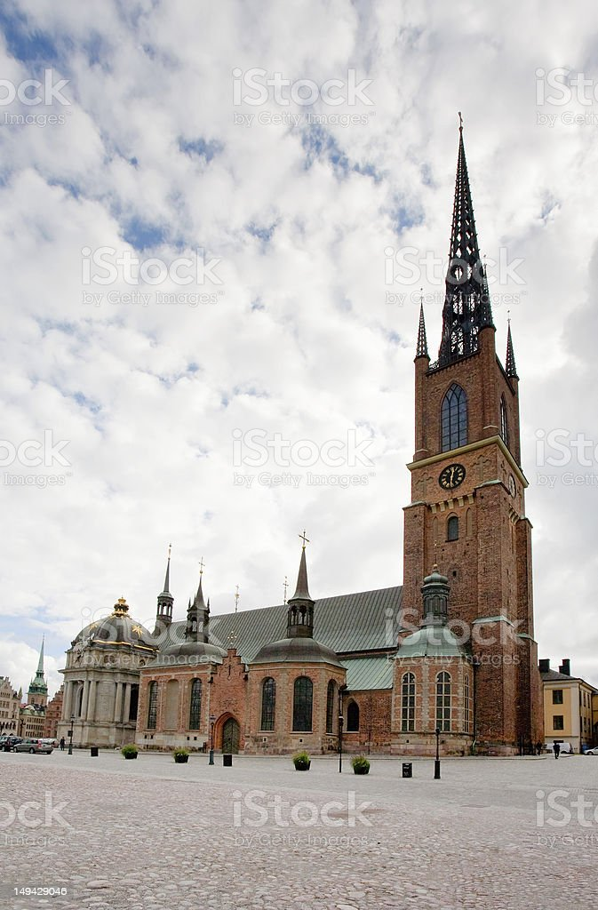 Knights church in Stockholm, Sweden royalty-free stock photo