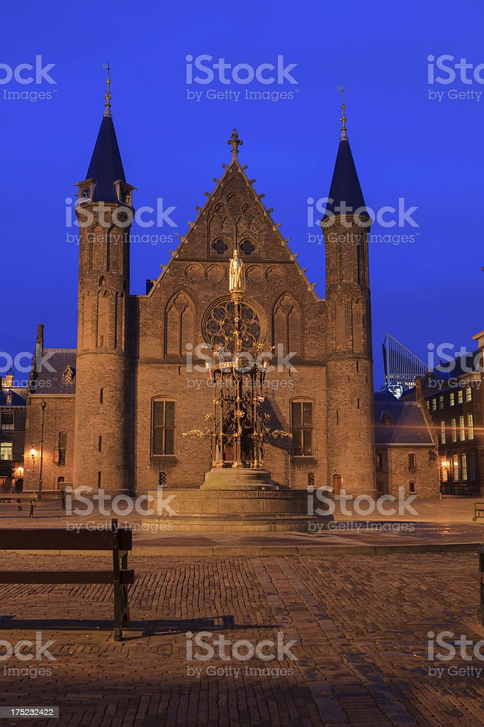 Knights' Hall at Binnenhof in The Hague royalty-free stock photo