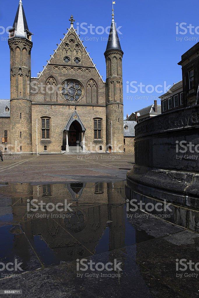 Knights' Hall at Binnenhof in The Hague royalty-free stock photo