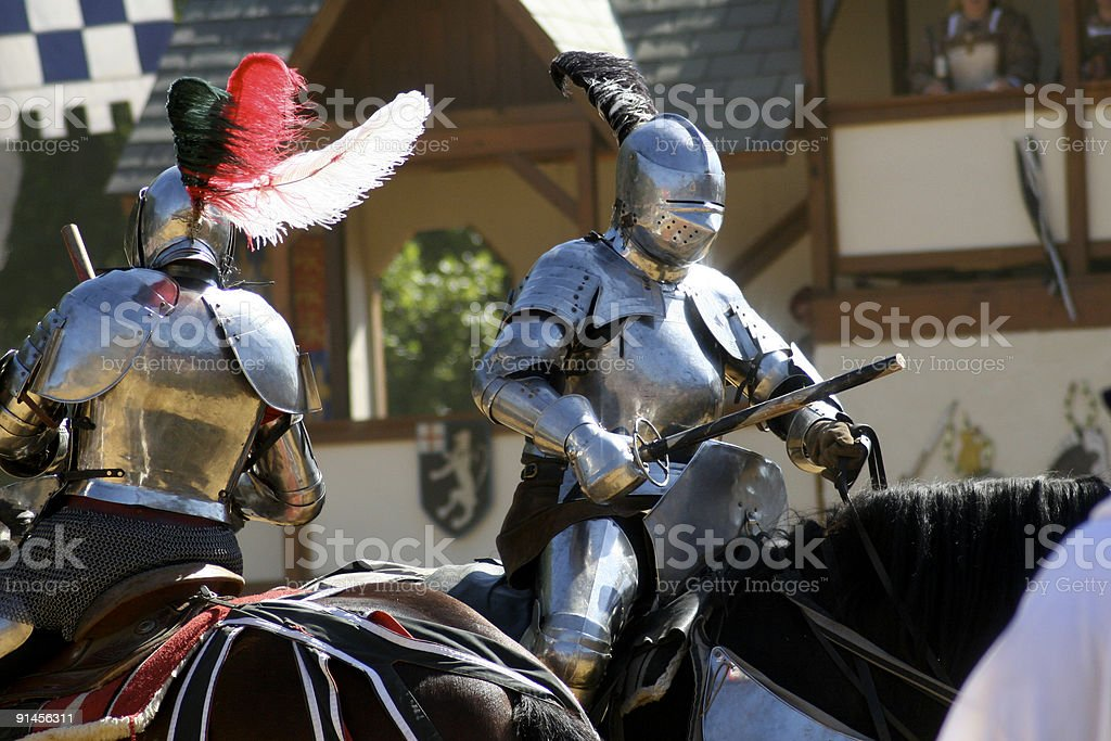 Knights in Battle royalty-free stock photo