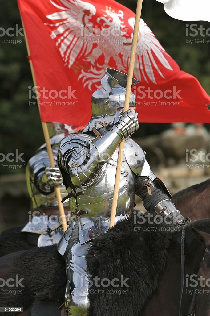 Knights on Horseback stock photo