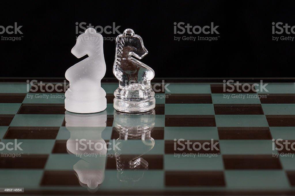 Knights Opposing stock photo