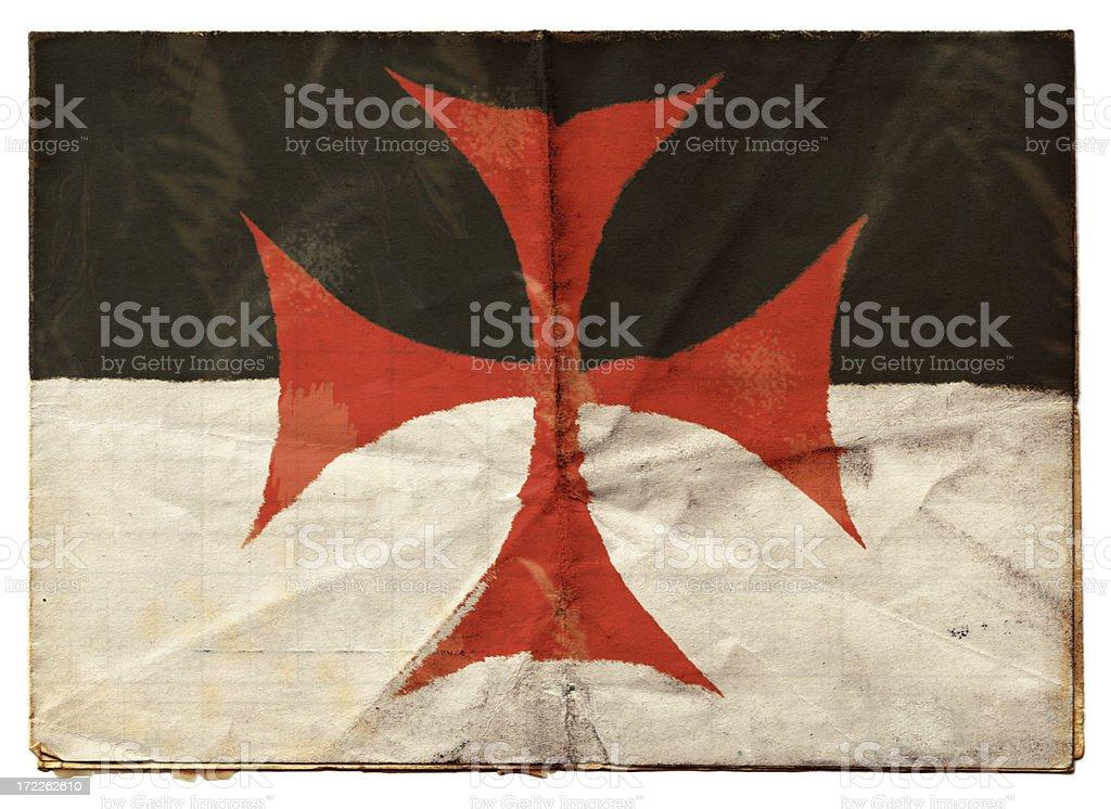 Knights Templar flag (XXL) stock photo