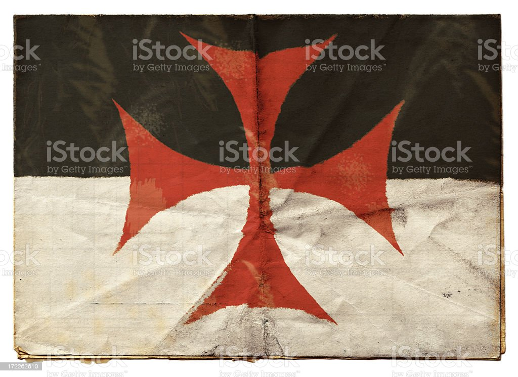 Knights Templar flag (XXL) stock photo