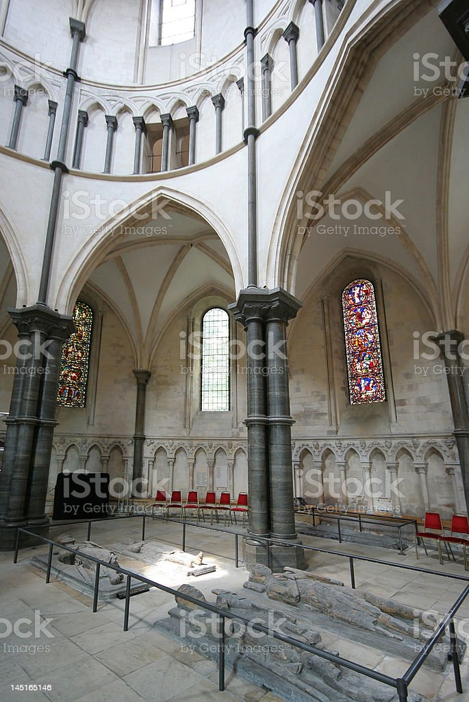 Knights' tombs in Temple Church stock photo