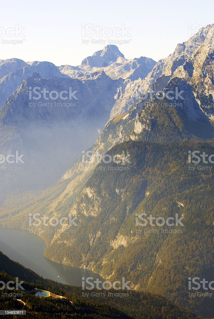 Königsee.Top view from Kehlstein. royalty-free stock photo