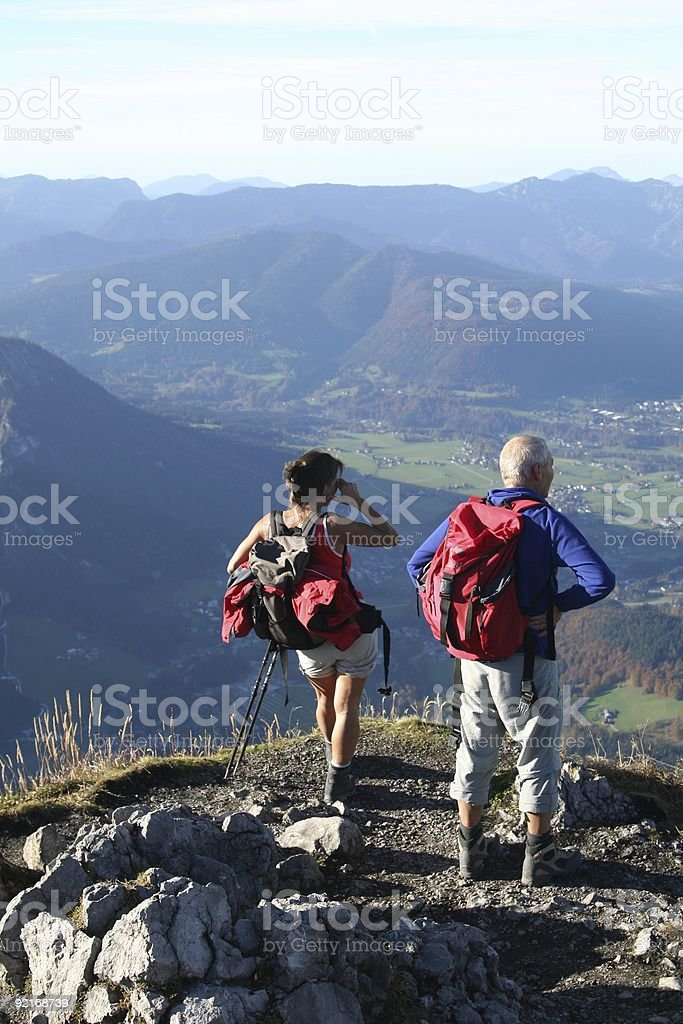 Königssee Couple watching from Mountain Jenner royalty-free stock photo