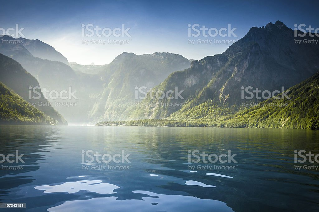 Königssee in Bavaria stock photo