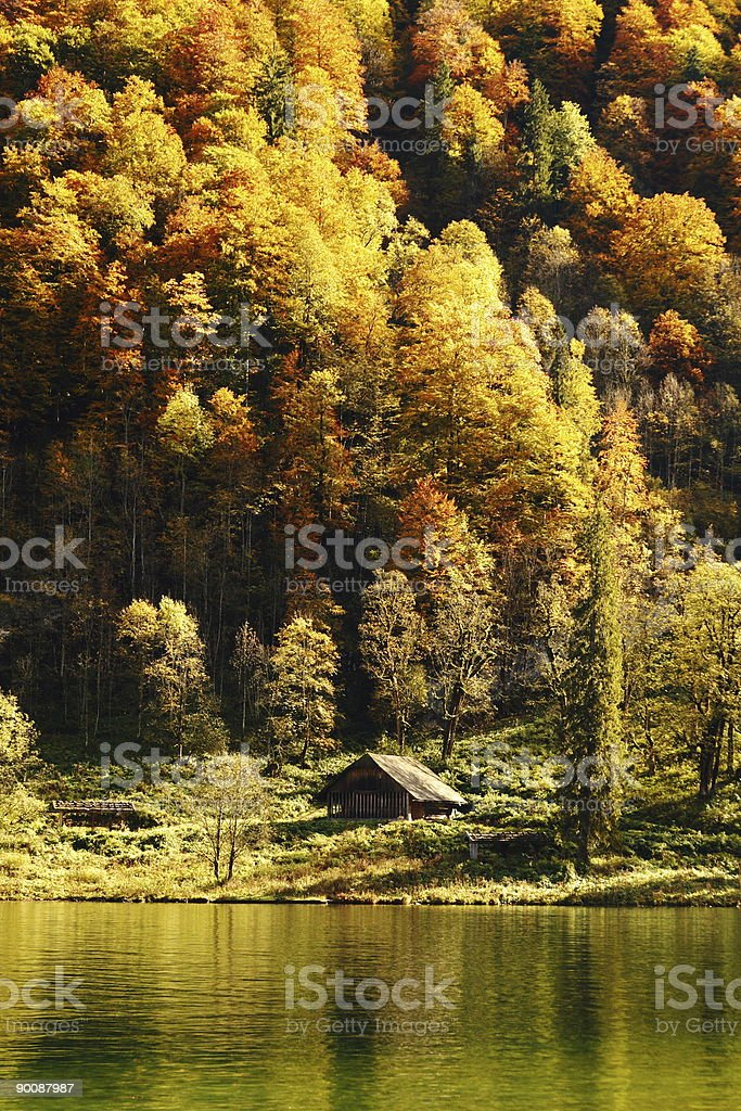K?nigssee Indian Summer royalty-free stock photo