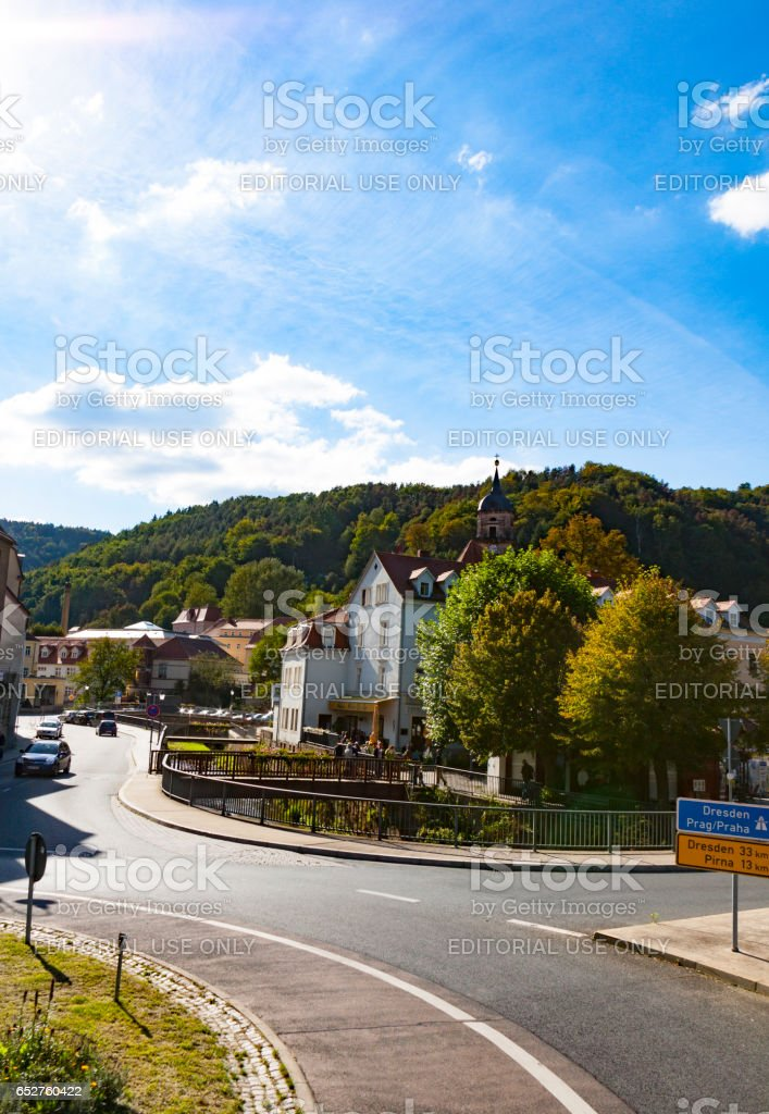 Königstein is a town in the Free State of Saxony in Germany. stock photo
