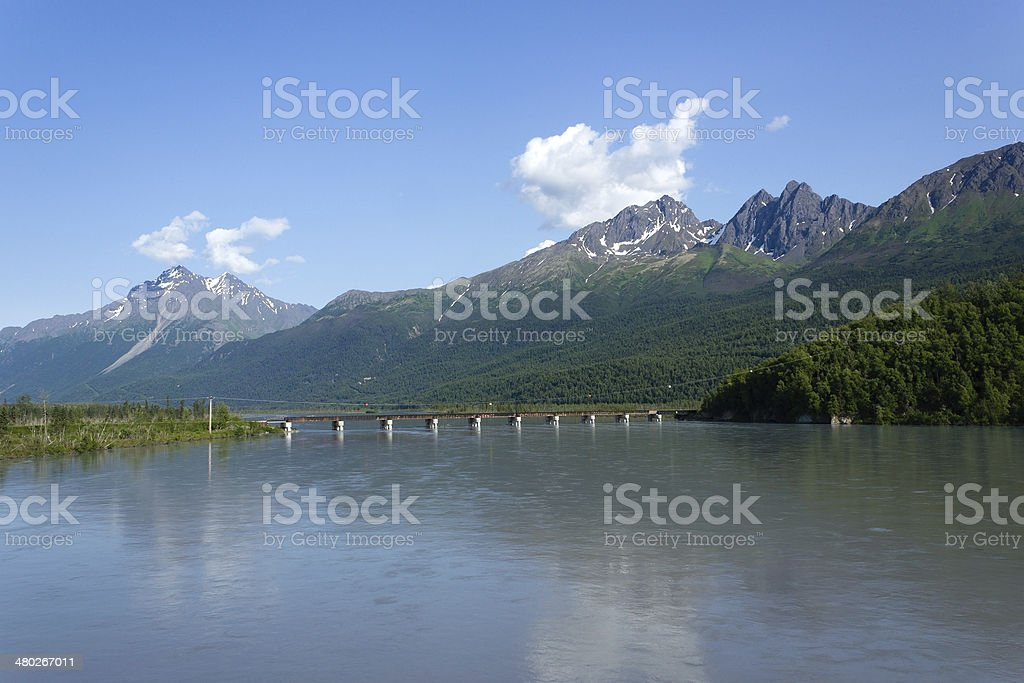 Knik River, Alaska stock photo