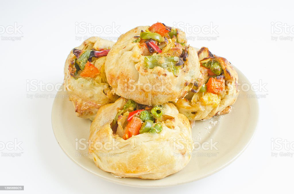 Knishes with vegetables stock photo