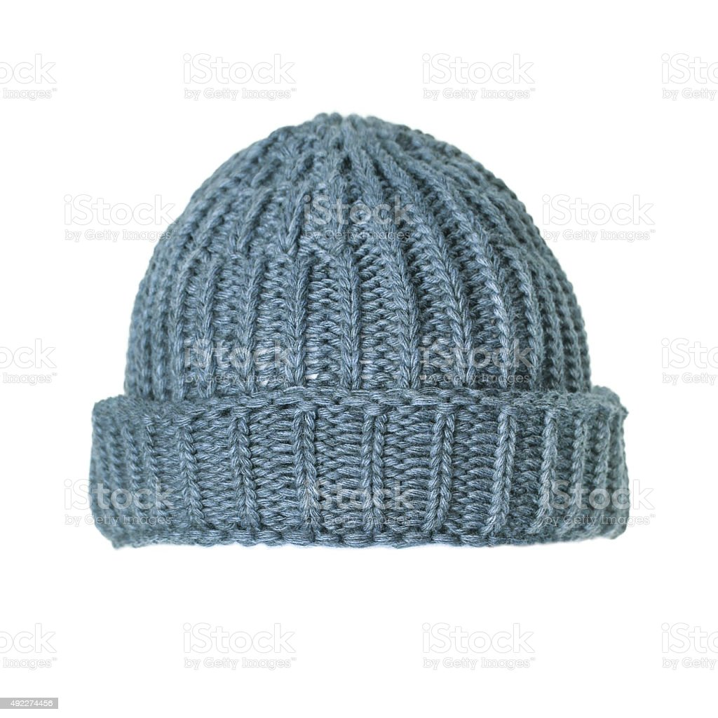 Knit hat stock photo