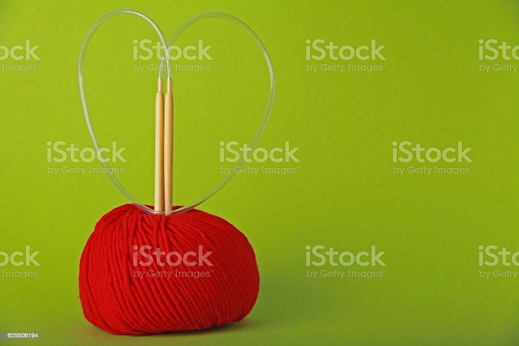 Knit love stock photo
