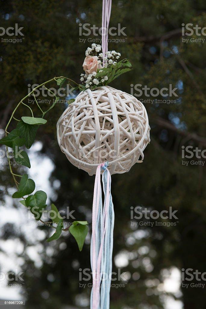 Knited ball decoration. stock photo